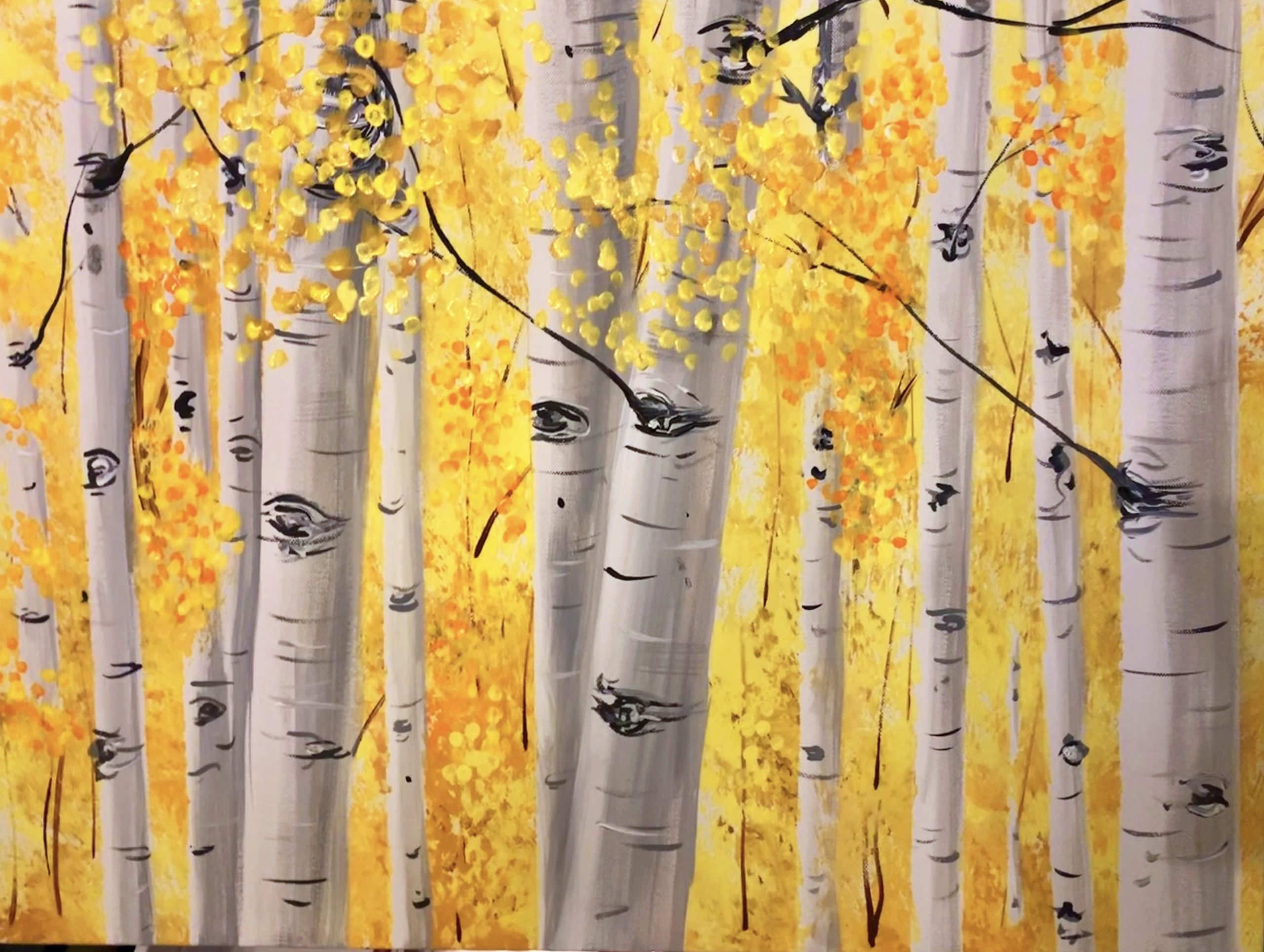 """Golden Aspens"" - painting by Pamela Carpenter, MEd"
